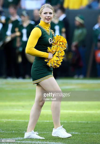 Green Bay Packers cheerleader performs before the game between the Green Bay Packers and the Indianapolis Colts at Lambeau Field on November 6 2016...
