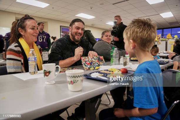 Green Bay Packers' David Bakhtiari and His Mom Donate 10,000 Bowls of Campbell's Chunky Soup to New Community Shelter on October 22, 2019 in Green...