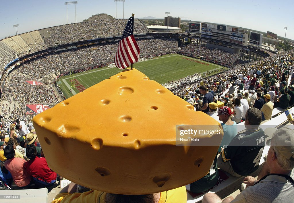 Cheesehead melts in sun : News Photo