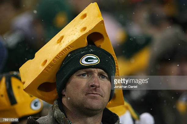 Green Bay Packers fan watches the game against the Seattle Seahawks during the NFC divisional playoff game on January 12 2008 at Lambeau Field in...