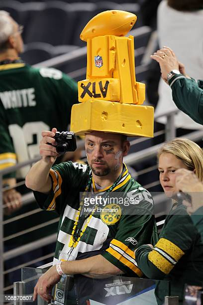 Green Bay Packers fans celebrate after winning Super Bowl XLV 31-25 against the Pittsburgh Steelers at Cowboys Stadium on February 6, 2011 in...
