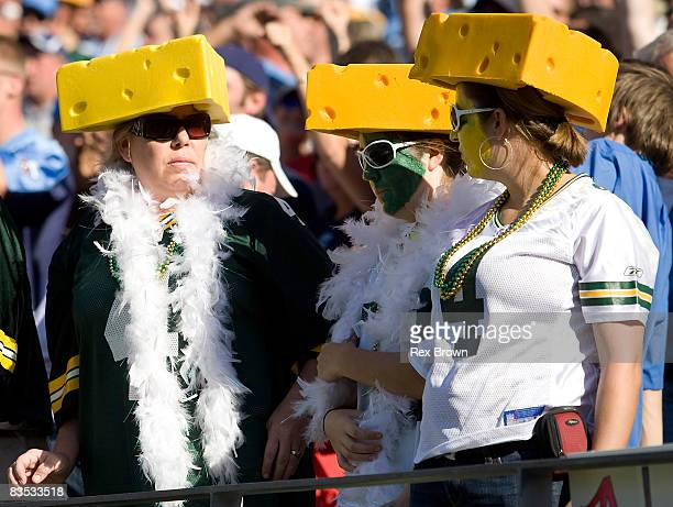 Green Bay Packers fans react at the game against the Tennessee Titans at LP Field on November 2 2008 in Nashville Tennessee The Titans defeated the...