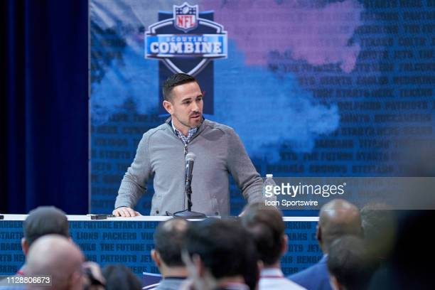 Green Bay Packers general manager Brian Gutekunst during the NFL Scouting Combine on February 27 2019 at the Indiana Convention Center in...