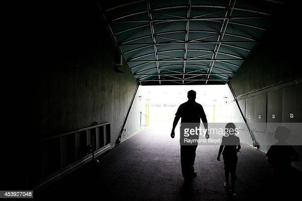 Green Bay Packers Players Tunnel at Lambeau Field home of the Green Bay Packers football team on August 16 2014 in Green Bay Wisconsin