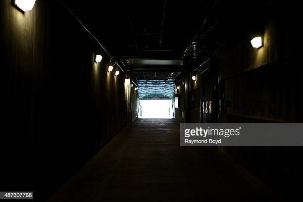 Green Bay Packers 'Players Tunnel' at Lambeau Field home of the Green Bay Packers football team on August 31 2015 in Green Bay Wisconsin