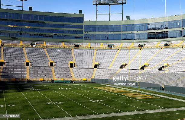 Green Bay Packers playing field at Lambeau Field home of the Green Bay Packers football team on November 20 2015 in Green Bay Wisconsin