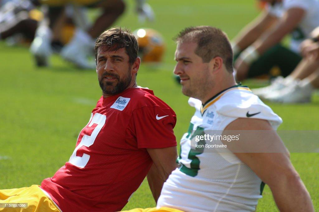 NFL: JUL 25 Packers Training Camp : ニュース写真