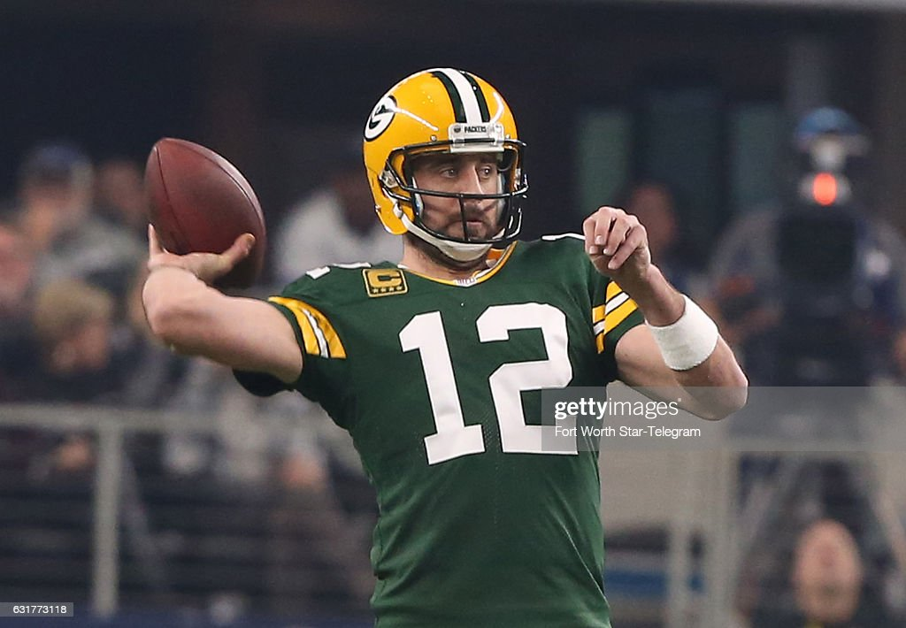 Green Bay Packers Quarterback Aaron Rodgers 12 Throws Against The Dallas Cowboys In