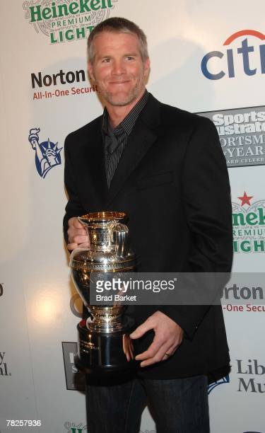 Green Bay Packers quarterback Brett Favre attends the Sports Illustrated Sportsman of The Year Party 2007 at Skylight Studios December 4, 2007 in New...