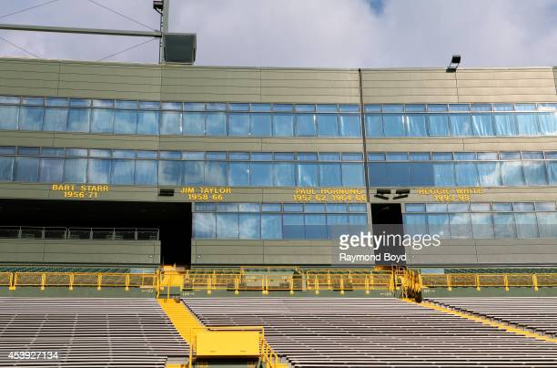 Green Bay Packers 'Ring of Honor' at Lambeau Field home of the Green Bay Packers football team on August 16 2014 in Green Bay Wisconsin