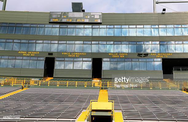 Green Bay Packers Ring of Honor at Lambeau Field home of the Green Bay Packers football team on August 16 2014 in Green Bay Wisconsin
