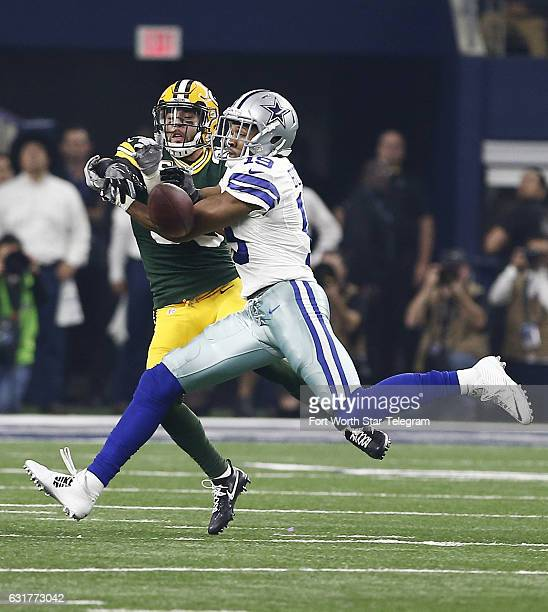 Green Bay Packers strong safety Micah Hyde knocks down a pass intended for Dallas Cowboys wide receiver Brice Butler during the first half in the NFL...