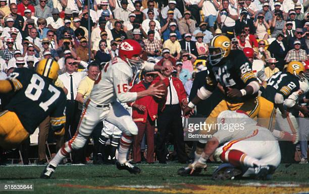 Green Bay Packers versus the Kansas City Chiefs in the Super Bowl on January 27 1967 Green Bay won the game with a score of 3510 Kansas City Chief is...