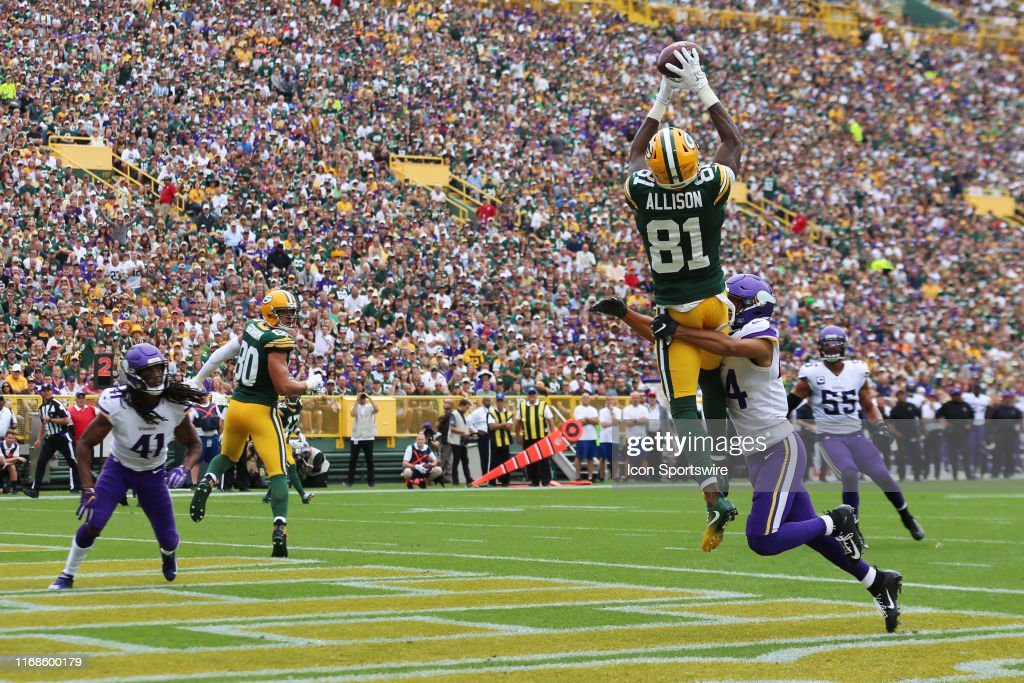 NFL: SEP 15 Vikings at Packers : ニュース写真