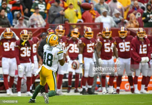 Green Bay Packers wide receiver Randall Cobb in action on September 23 at FedEx Field in Landover MD The Washington Redskins defeated the Green Bay...