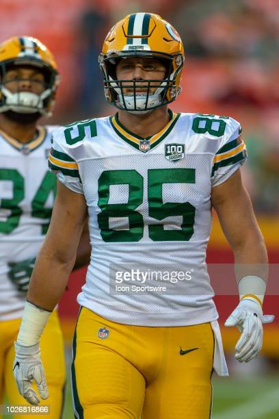 Green Bay Packers wide receiver Robert Tonyan during the NFL Preseason game against the Kansas City Chiefs on August 30, 2018 at Arrowhead Stadium in...