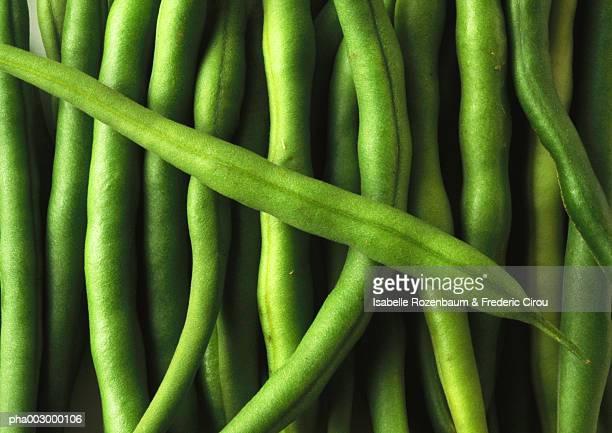 Green beans, close-up, full frame