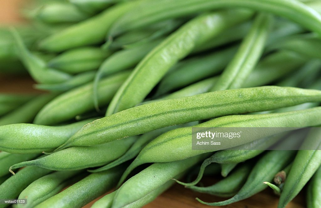 Green beans, close-up : Stockfoto