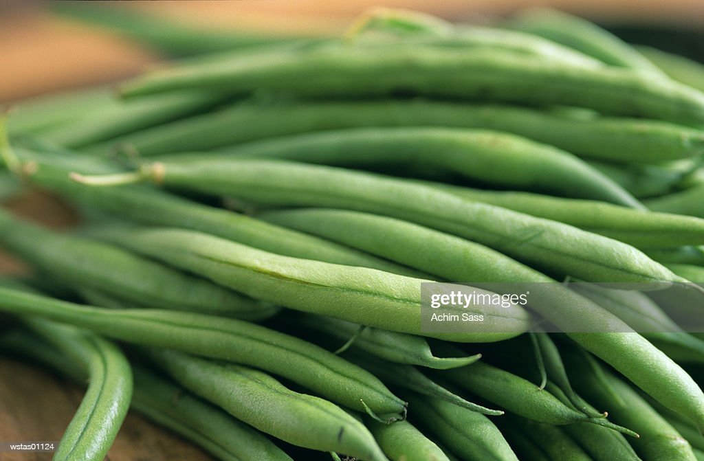 Green beans, close-up : Stock Photo