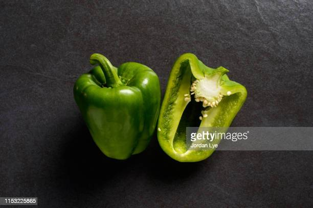 green bell pepper - green bell pepper stock pictures, royalty-free photos & images