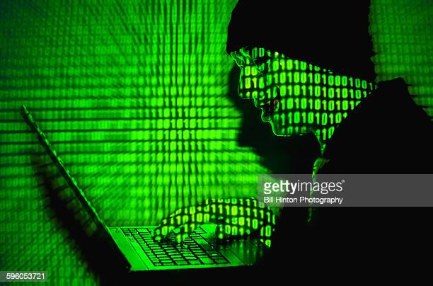 Green binary code hacker