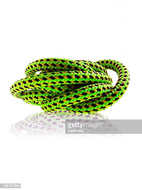 Green black and yellow rope