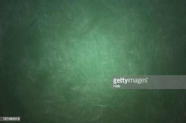 Green blackboard with white chalk streaks
