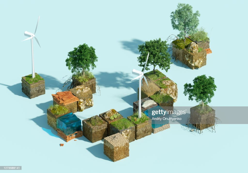 Green blocks : Stock Photo