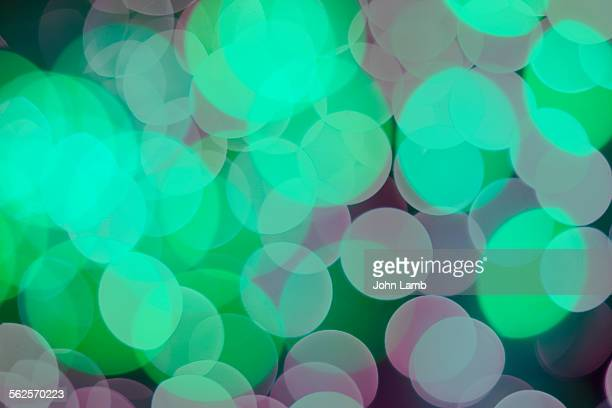 Green blue bokeh