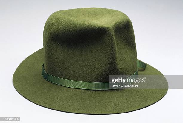 Green Borsalino hat 20th century Italy