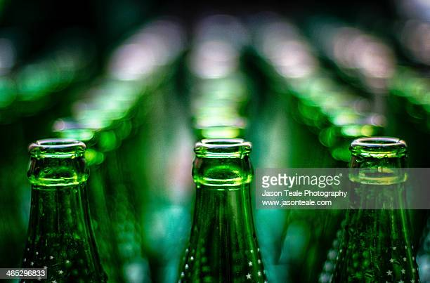 Green Bottles in Rows