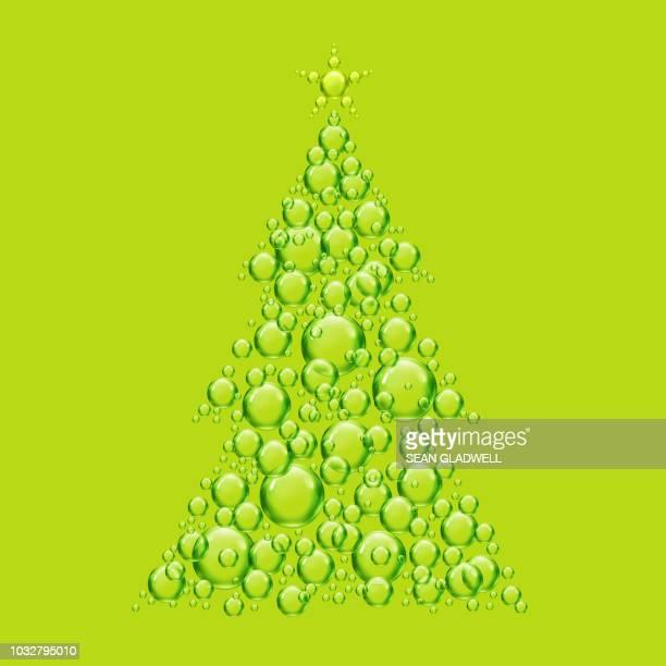 Green bubble christmas tree illustration