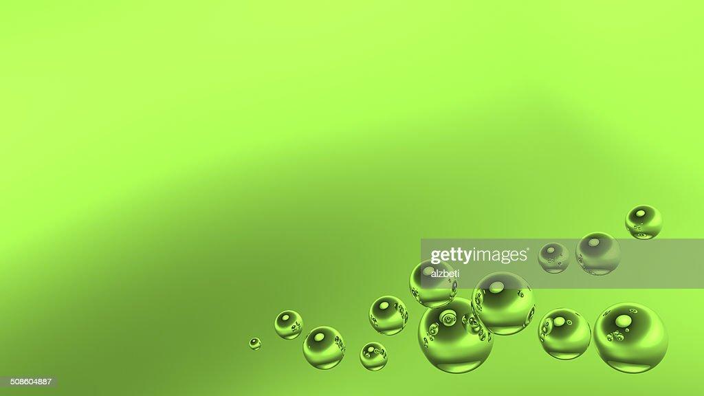 Verde burbujas : Foto de stock