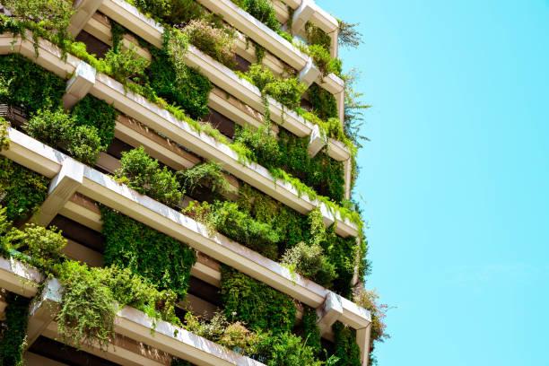 Green building with vertical garden.