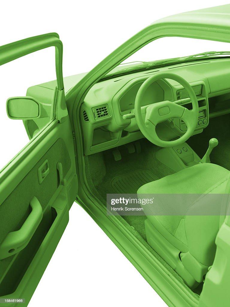 Green car, environment. : Stockfoto