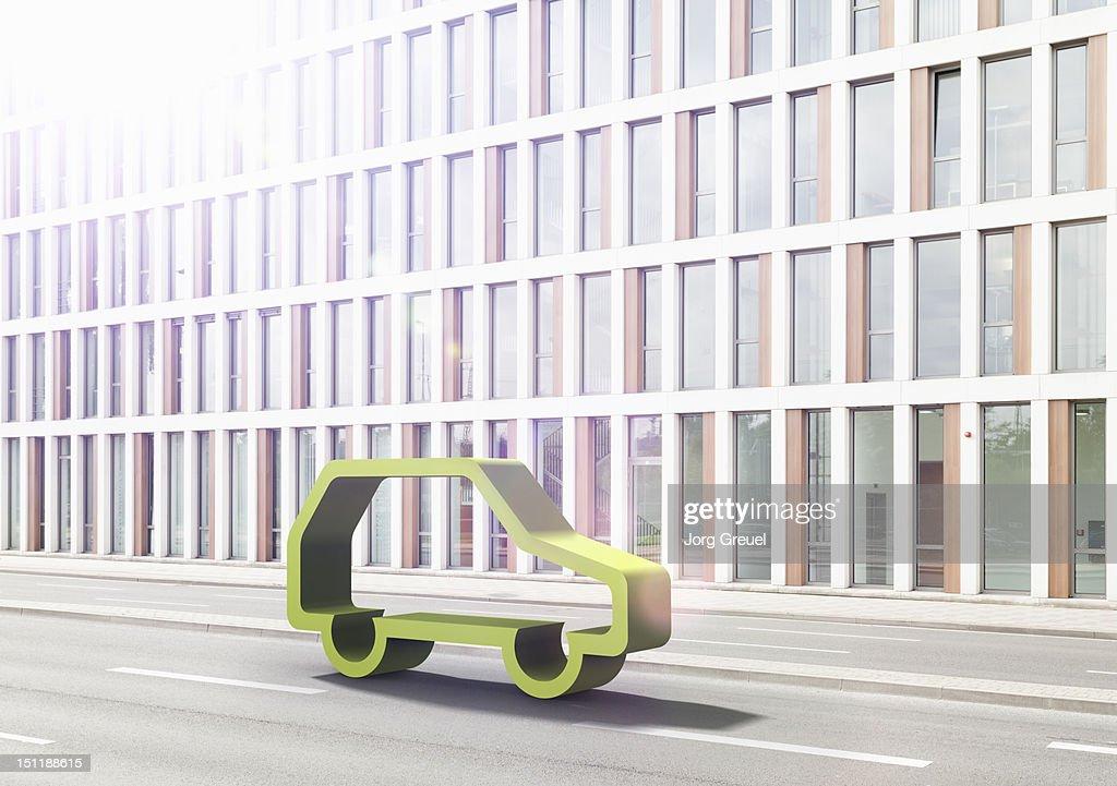 Green car : Bildbanksbilder