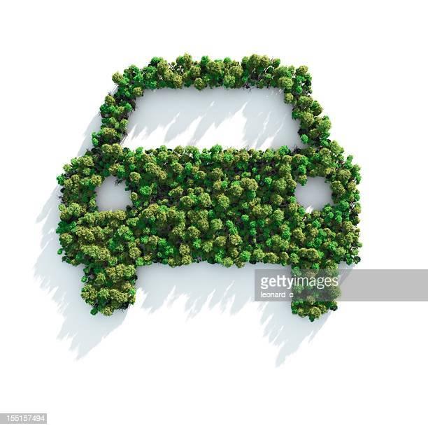 Verde de automóviles