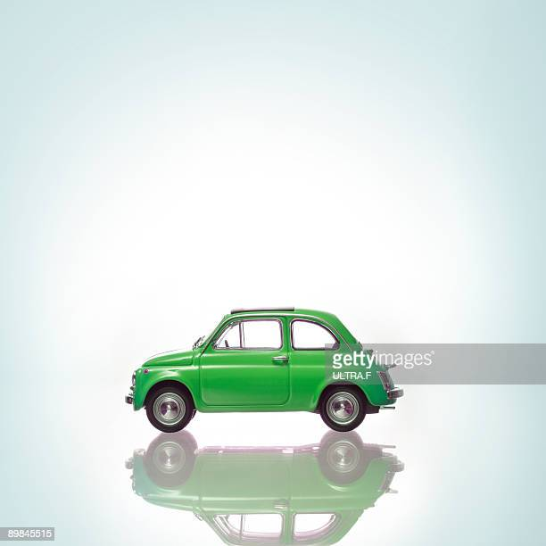 A green car.