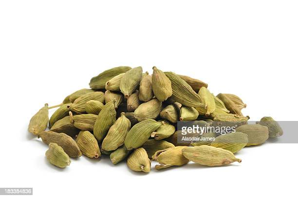 green cardamom pods - cardamom stock photos and pictures