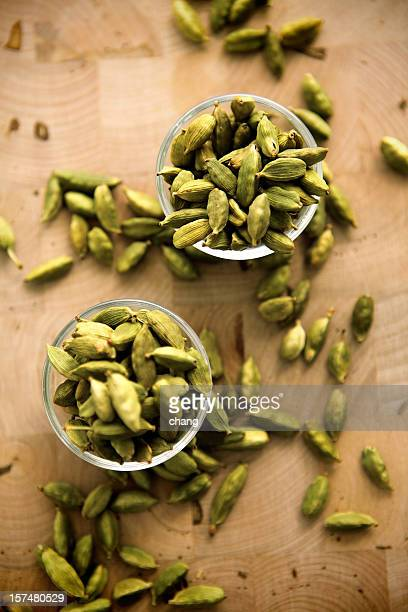 green cardamoms - cardamom stock photos and pictures