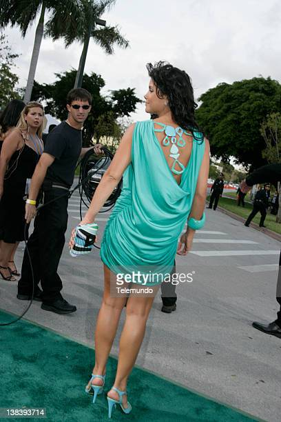 Green Carpet -- Pictured: Julie Giliberti arrives at the 2007 Billboard Latin Music Awards held at the Bank United Center in Miami, Florida, on...