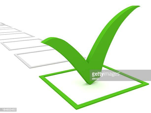 Marca de verificação verde