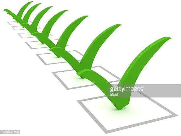 green checklist - checkbox stock photos and pictures