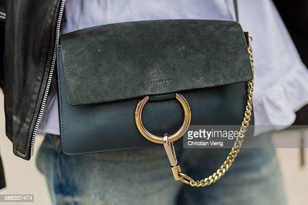 A green Chloe bag outside Nicholas Nybro during the first day of the Copenhagen Fashion Week Spring/Summer 2017 on August 10 2016 in Copenhagen...
