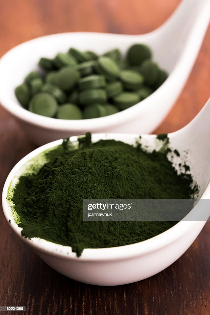 Green chlorella : Stock Photo