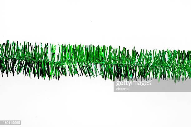 green christmas garland - tinsel stock pictures, royalty-free photos & images
