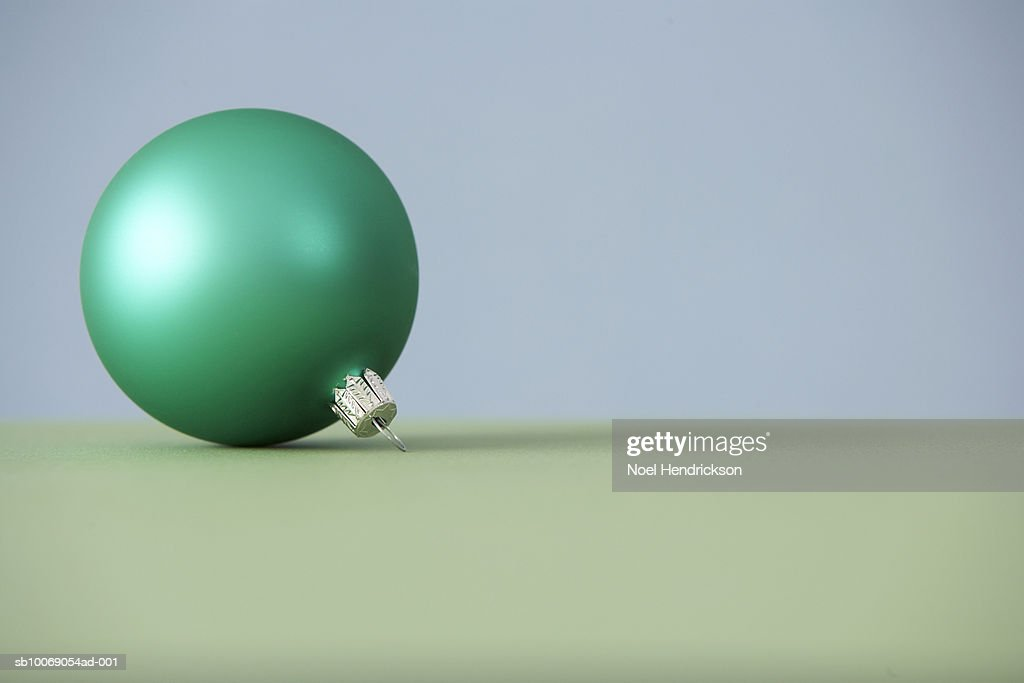 Green Christmas ornament : Stockfoto