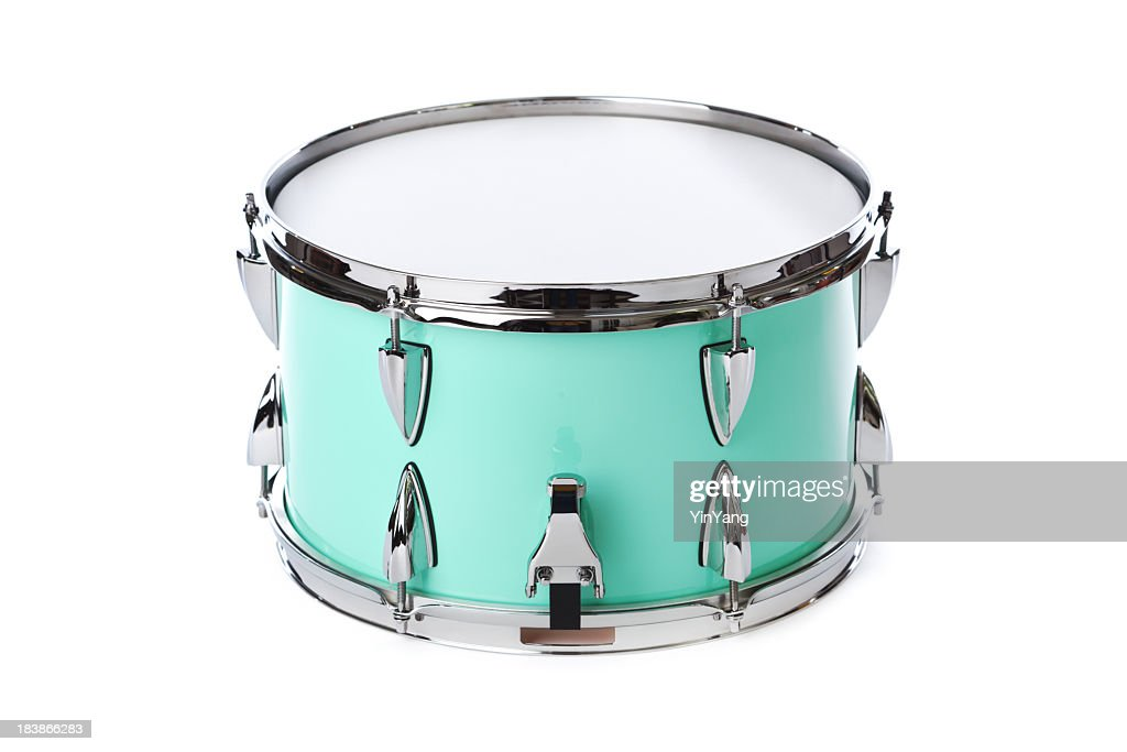 green chrome snare drum percussion musical instrument isolated on white stock photo getty images. Black Bedroom Furniture Sets. Home Design Ideas