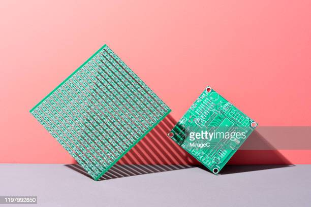 green circuit boards - electrical equipment stock pictures, royalty-free photos & images