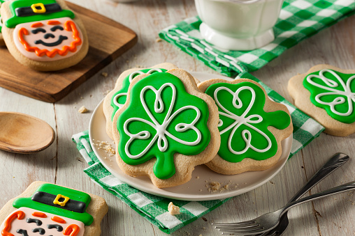 Green Clover St Patricks Day Cookies 466240008